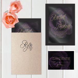 Regina Craft Velvet Rose Wedding Invitation