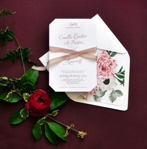"Smitten On Paper ""Camille"" Die Cut Floral Wedding Invitation"