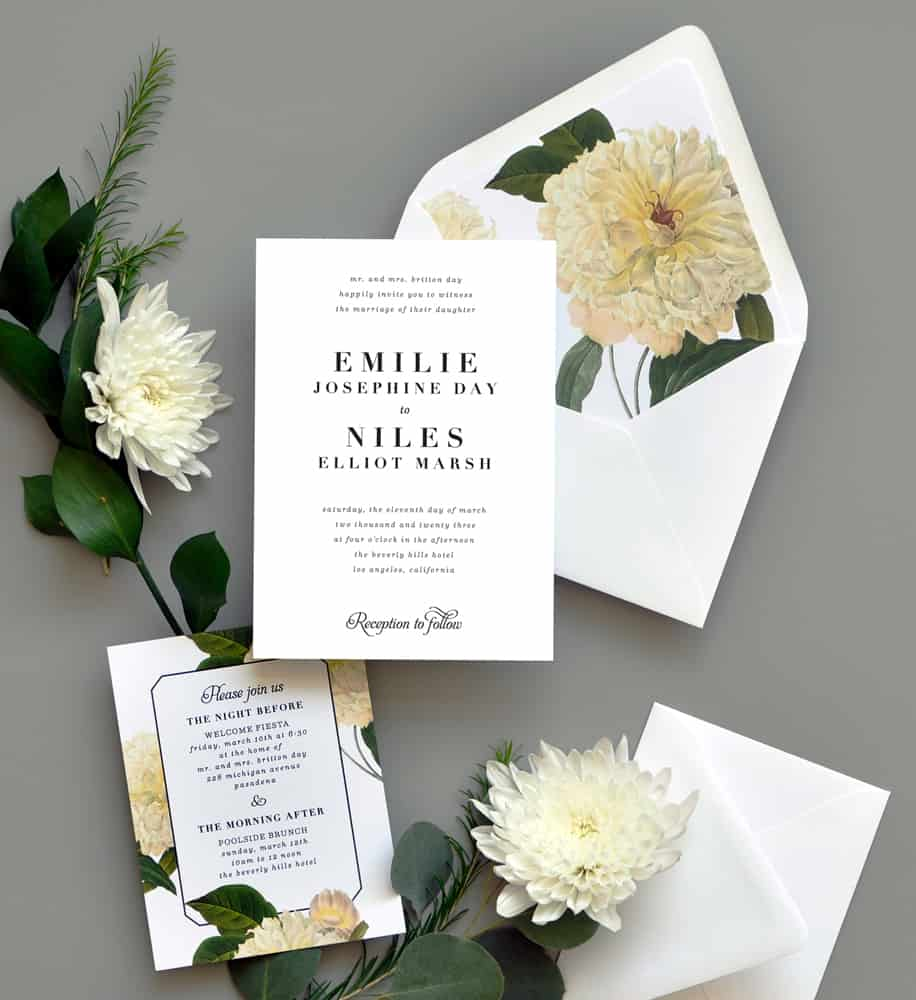 "Smitten On Paper ""Classic Belle"" Wedding Invitation"