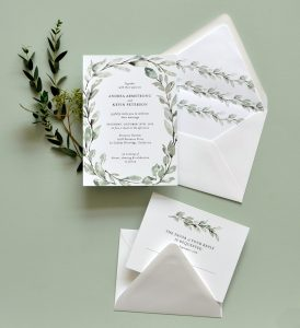 "Smitten On Paper ""Delicate Willow"" Wedding Invitation"