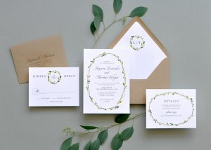 "Smitten On Paper ""Delicate Wreath"" Wedding Invitation"