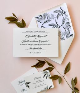 "Smitten On Paper ""Elizabeth"" Letterpress Wedding Invitation"