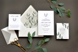 "Smitten On Paper ""Ella"" Watercolor Eucalyptus Wedding Invitation"