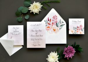 "Smitten On Paper ""Enchanted Drift"" Floral Wedding Invitation"