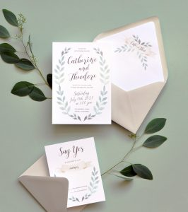 "Smitten On Paper ""Fairfield"" Wedding Invitation"