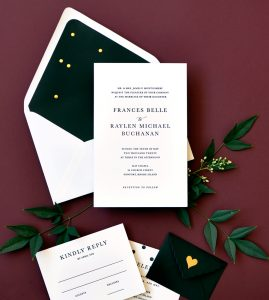"Smitten On Paper ""Frances"" Letterpress Wedding Invitation"