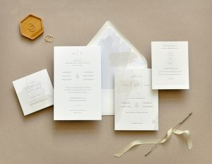 "Smitten On Paper ""Harper"" Modern Wedding Invitation"