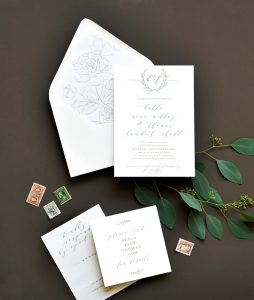 "Smitten On Paper ""Heirloom Romance"" Wedding Invitation"
