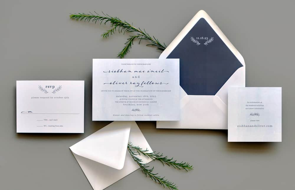 "Smitten On Paper ""Homewood"" Dreamy Wedding Invitation"
