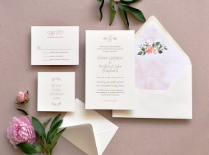 "Smitten On Paper ""Honor"" Wedding Invitation"