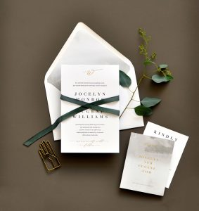 "Smitten On Paper ""Jocelyn"" Letterpress and Foil Wedding Invitation"