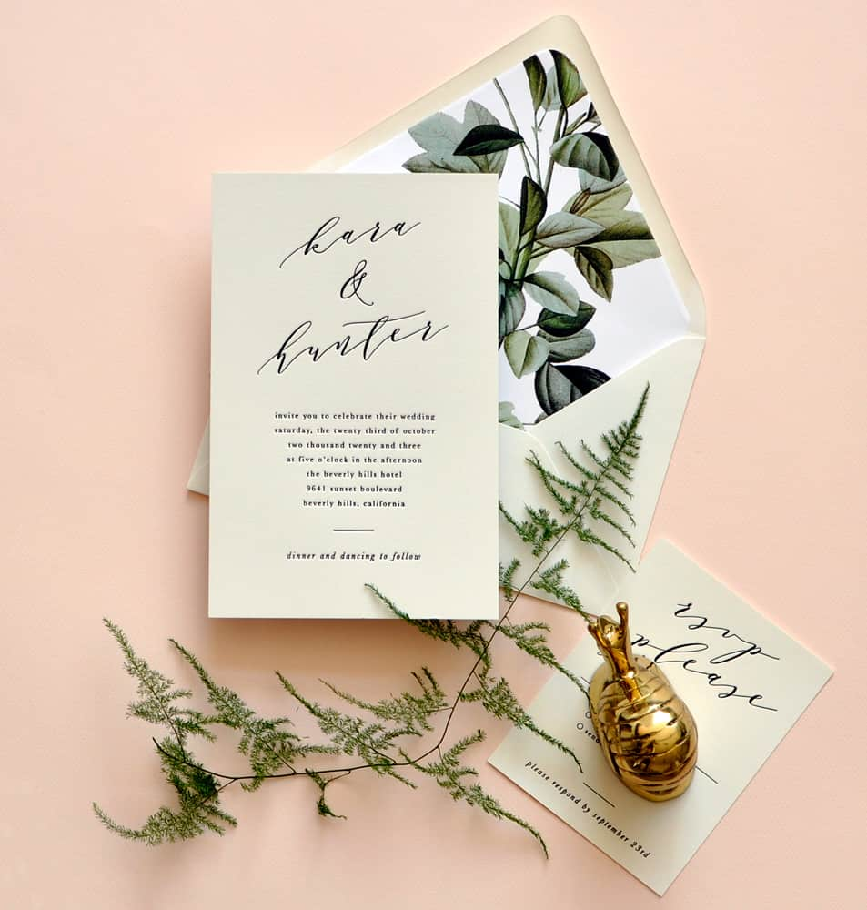 "Smitten On Paper ""Kara"" Greenery Wedding Invitation"