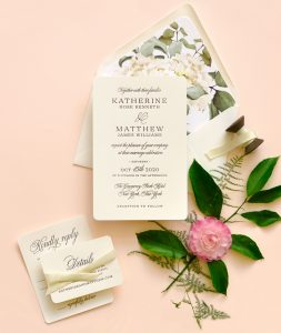 "Smitten On Paper ""Katherine"" Rounded Corner Wedding Invitation"