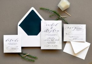 "Smitten On Paper ""Modern Stone"" Wedding Invitation"