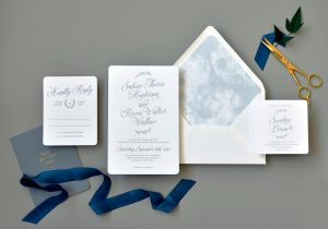"Smitten On Paper ""Sabine"" Letterpress Watercolor Wedding Invitation"