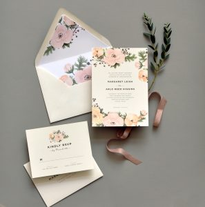 "Smitten On Paper ""Secret Garden"" Wedding Invitation"