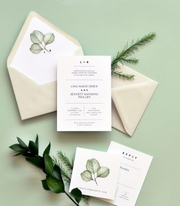 "Smitten On Paper ""Simply Modern"" Wedding Invitation"