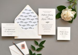 "Smitten On Paper ""Stephanie"" Watercolor Leaves Wedding Invitation"