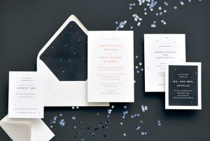 "Smitten On Paper ""Summer"" Foil Stars Wedding Invitation"