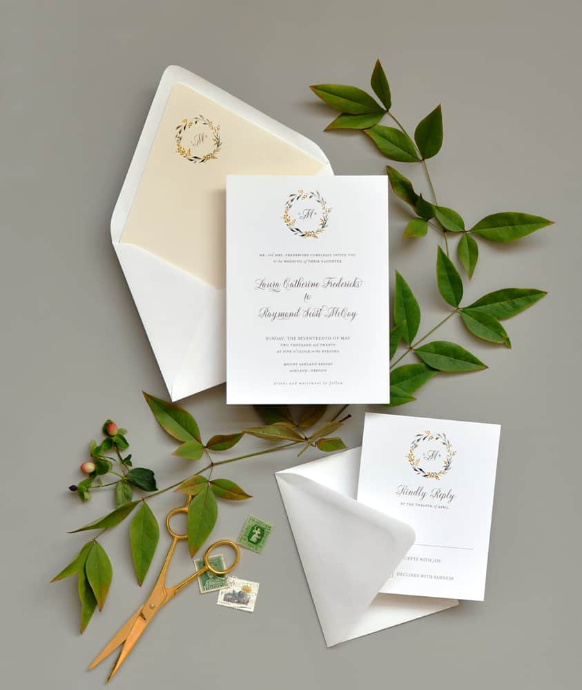 "Smitten On Paper ""Sweet Summer"" Wedding Invitation"