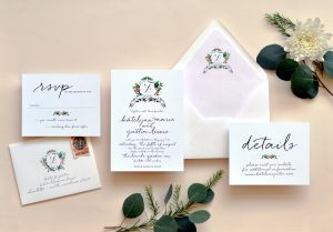 "Smitten On Paper ""Watercolor Crest"" Wedding Invitation"