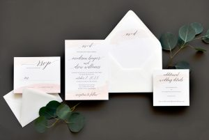 "Smitten On Paper ""Watercolor Swash"" Wedding Invitation"