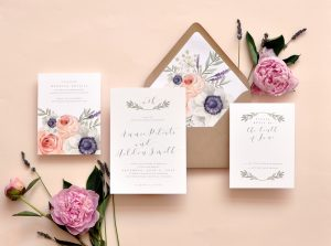 "Smitten On Paper ""Wild Rose"" Wedding Invitation"