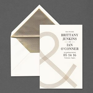Vera Wang Oversized Ampersand Save The Date