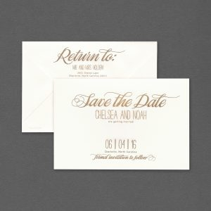 Vera Wang Gold Engraved Save The Date