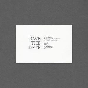 Vera Wang Modern Letterpress Save The Date