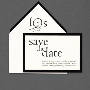Vera Wang Black Bordered Save The Date