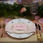Digital Calligraphy on Blush Place Card