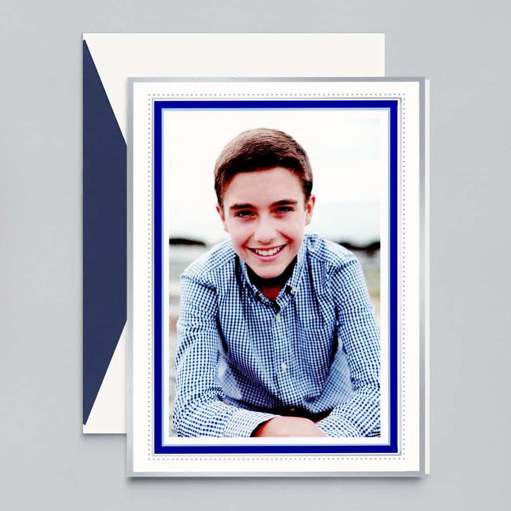 William Arthur | Azure Beaded Border Photo Card