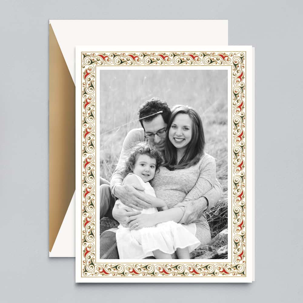 Crane & Co. | Florentine Border Photo Card