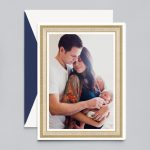 Crane & Co. | Gold Portrait Frame Photo Card