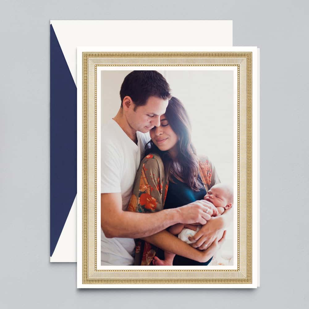 Crane & Co. | Gold Portrait Frame Photo Card