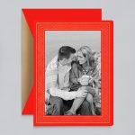 Crane & Co. | Modern Gold Chevron Photo Card
