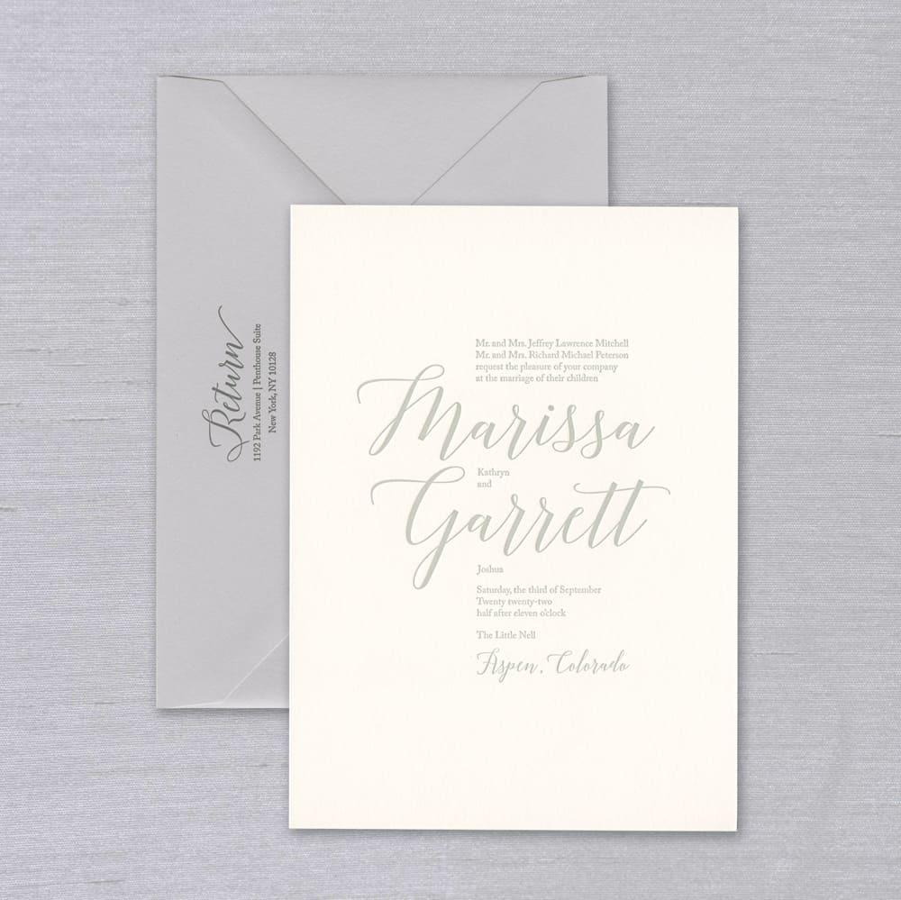 Vera Wang | Letterpress Invitation