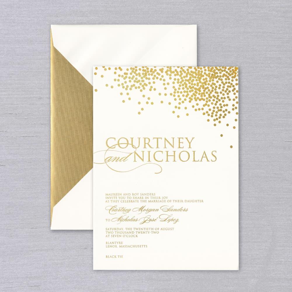 Vera Wang | Confetti Invitation