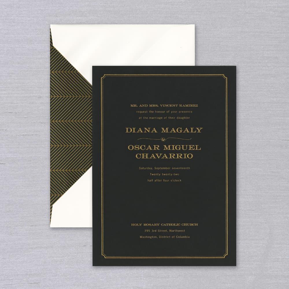 Vera Wang | Black Paper Invitation