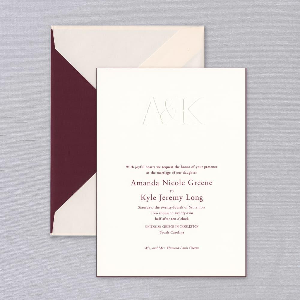 Vera Wang | Blush and Merlot Invitation Suite