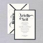 Vera Wang | Gunmetal Bordered Invitation