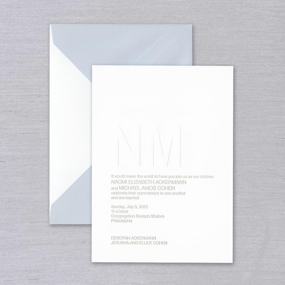 Vera Wang | Premium Weight Fluorescent White Invitation