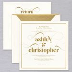 Vera Wang | Premium Weight Square Invitation Suite