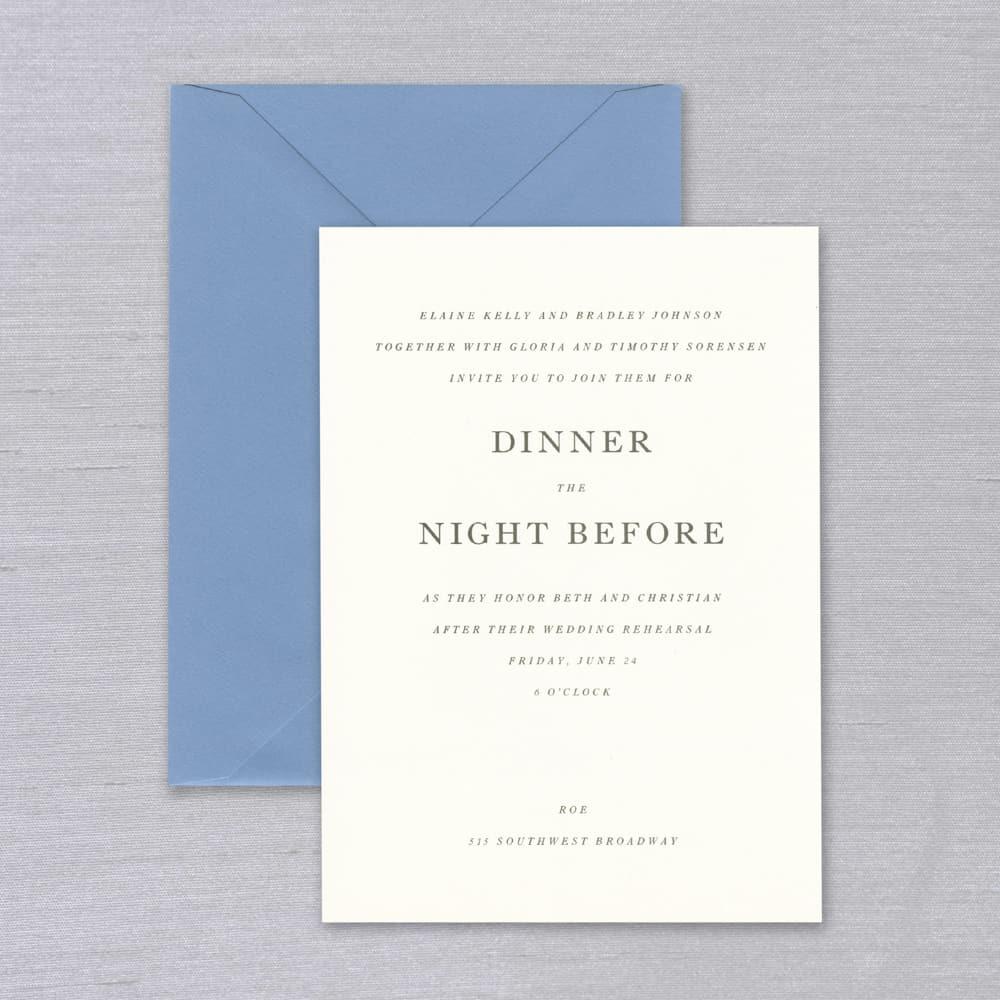 Vera Wang | Shades of Blue Invitation
