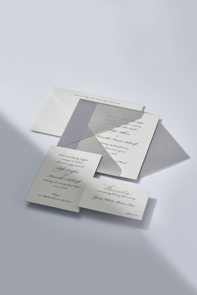 Vera Wang | Silver Vellum Invitation Suite