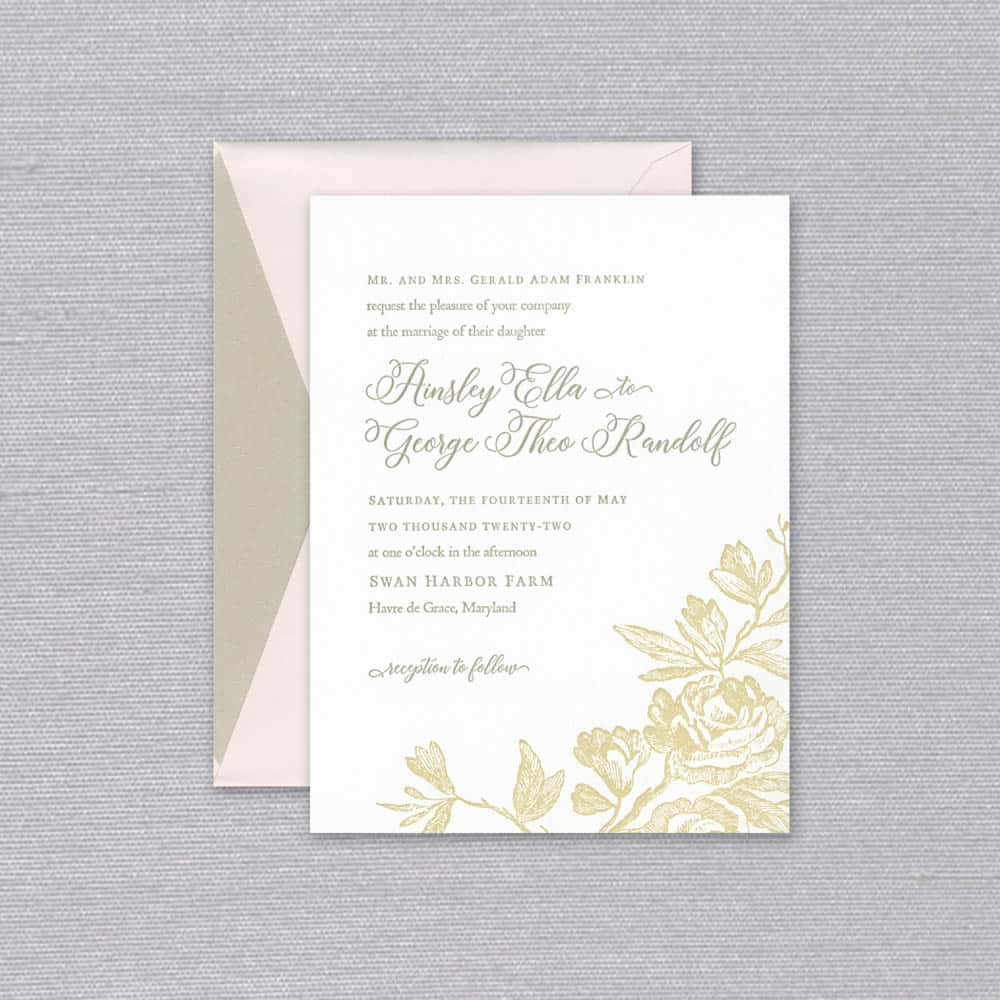 William Arthur | Ainsley Invitation