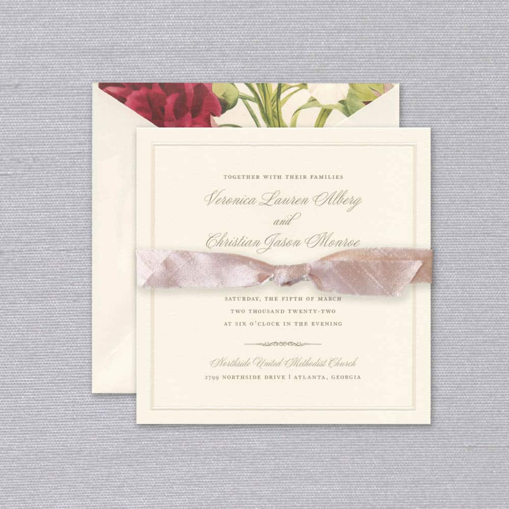 William Arthur | Bliss Invitation