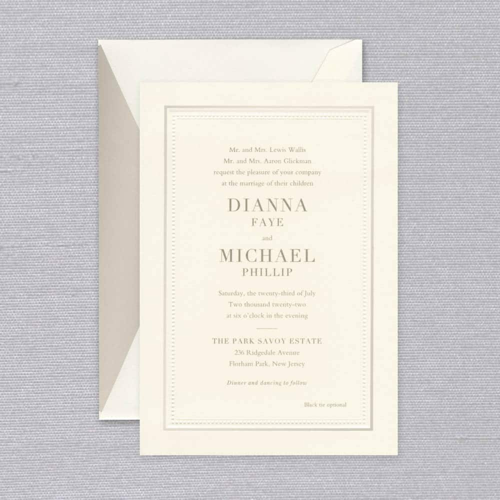 William Arthur | Classic Border Invitation