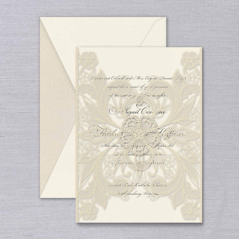 William Arthur | Floral Lace Invitation